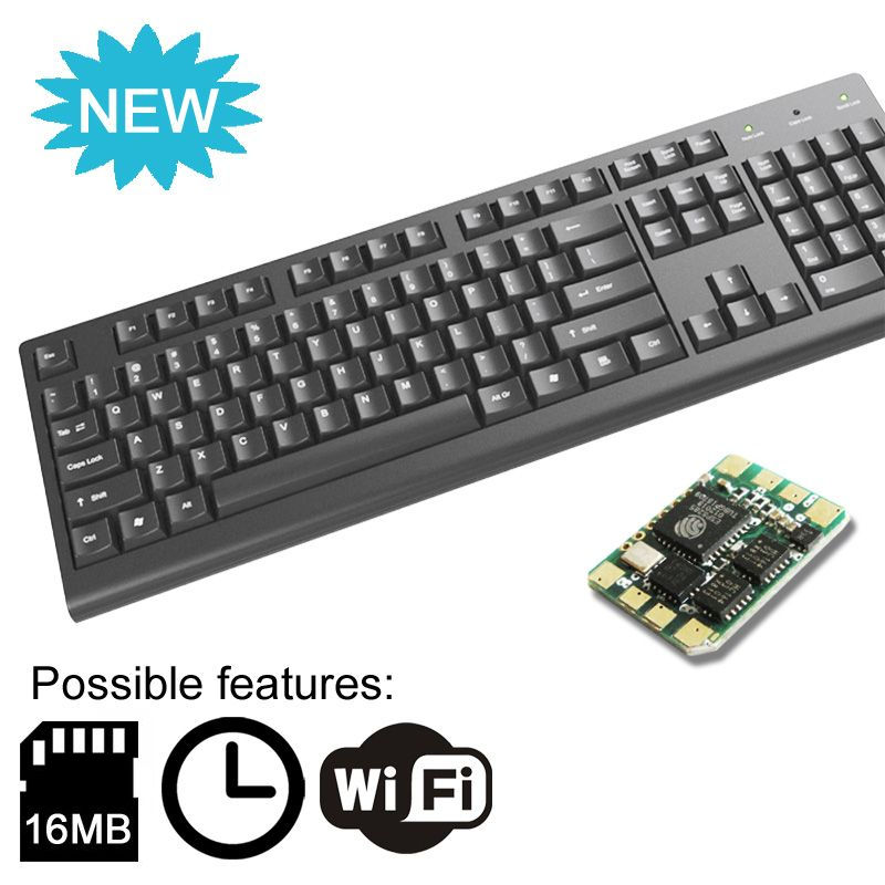 Keyboard with KeyLlama Micro WiFi Built-in